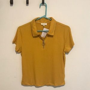 Mustard Yellow Collared Tee